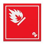Flammable Gas Hazard Pictogram Tile Coaster