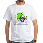 Pool Dragon Billiards White T-Shirt