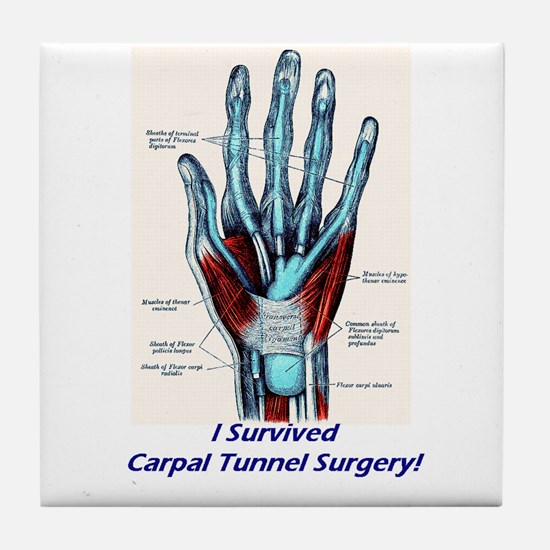 I Survived Carpal Tunnel Surgery! Tile Coaster