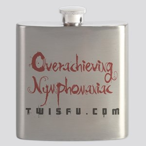 OVERACHIEVING - WHITE Flask