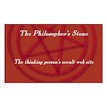 The Philosopher's Stone Rectangle Sticker
