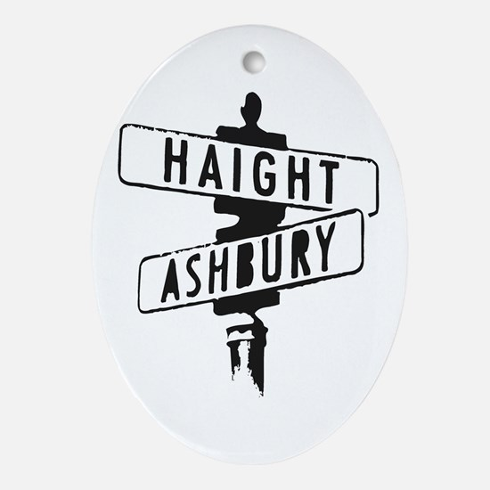 Haight Ashbury Oval Ornament