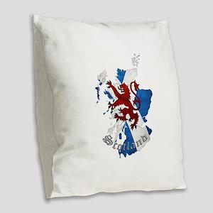 Scottish Heritage Design Burlap Throw Pillow