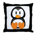 Cute Penguin  Throw Pillow