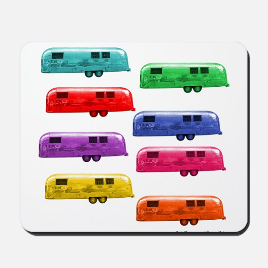 Airstream trailers candy colors Mousepad