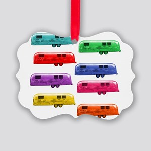 Airstream trailers candy colors Picture Ornament