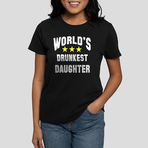 World's Drunkest Daughter Women's Dark T-Shirt