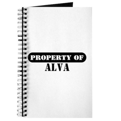 Property of Alva Journal