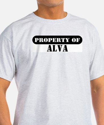 Property of Alva Ash Grey T-Shirt