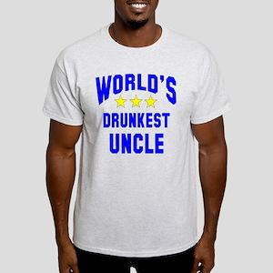 World's Drunkest Uncle Light T-Shirt
