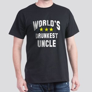 World's Drunkest Uncle Dark T-Shirt