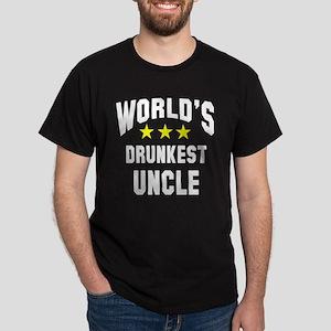 World's Drunkest Uncle Dark T-Shirt