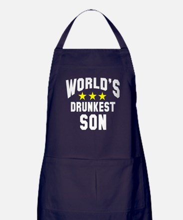 World's Drunkest Son Apron (dark)