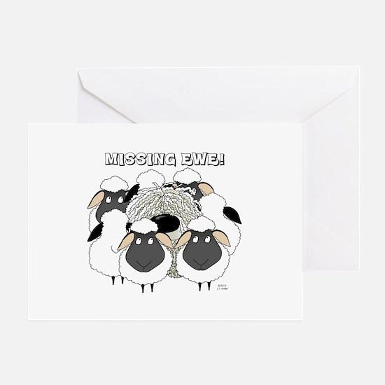 Komondor-Missing Ewe Greeting Card