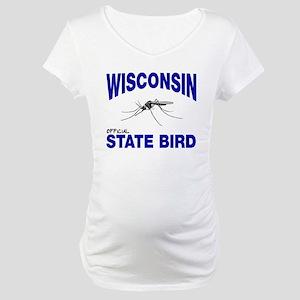 Wisconsin State Bird Maternity T-Shirt