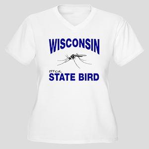 Wisconsin State Bird Women's Plus Size V-Neck T-Sh