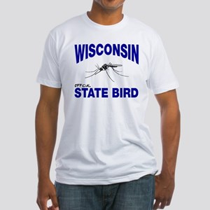 Wisconsin State Bird Fitted T-Shirt