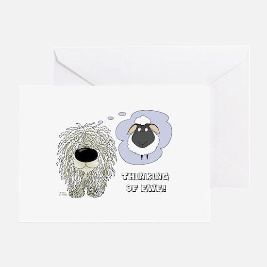 Komondor-Thinking of Ewe Greeting Card