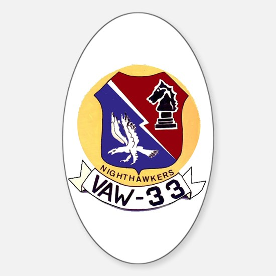 VAW 33 Knighthawks Oval Decal