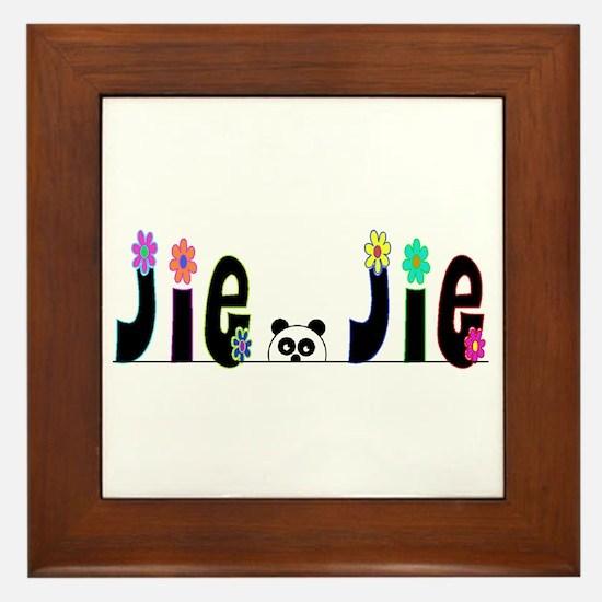 Jie Jie Panda Framed Tile