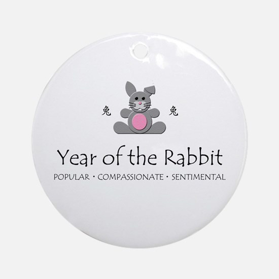 """""""Year of the Rabbit"""" Ornament (Round)"""
