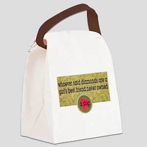 Dog Lady Canvas Lunch Bag