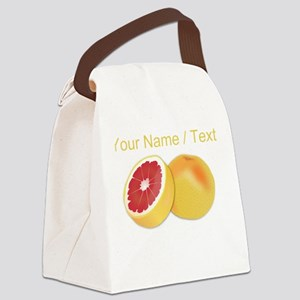 Custom Grapefruit Canvas Lunch Bag