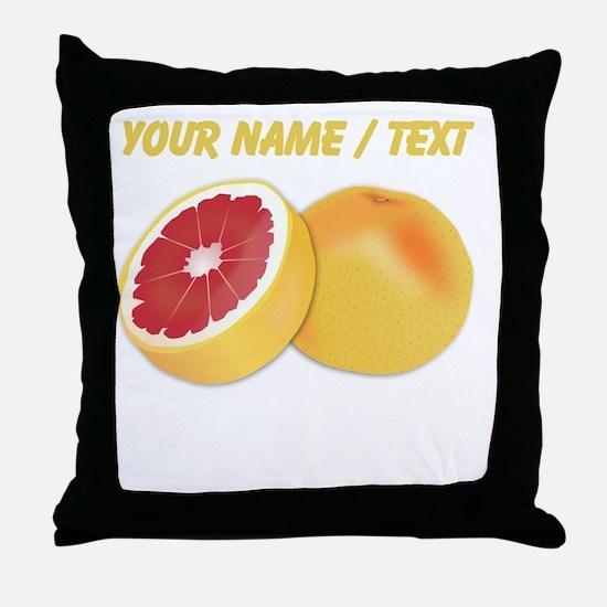 Custom Grapefruit Throw Pillow