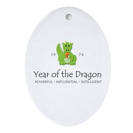 """Year of the Dragon"" [1976] Oval Ornament"