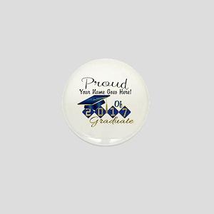 Proud 2017 Graduate Blue Mini Button