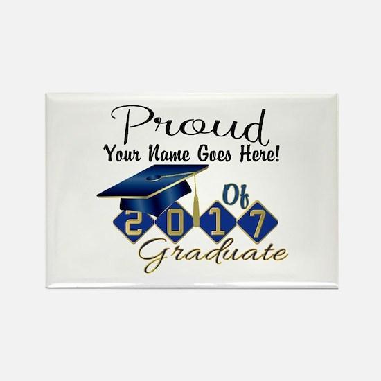 Proud 2017 Graduate Blue Magnets