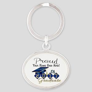 Proud 2017 Graduate Blue Keychains