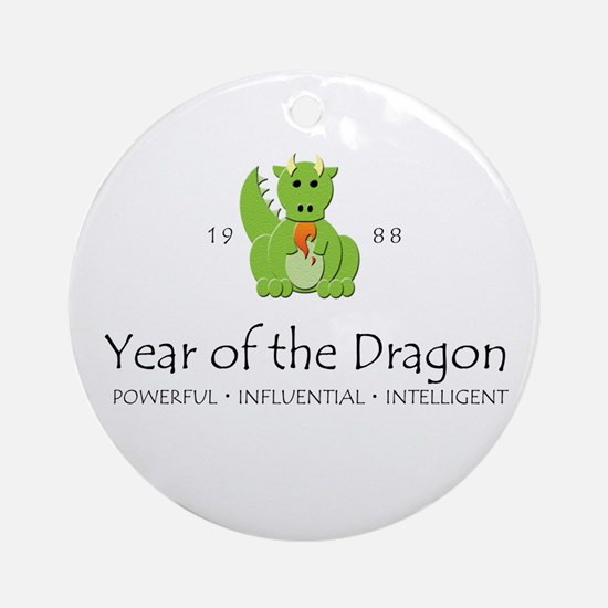 """""""Year of the Dragon"""" [1988] Ornament (Round)"""