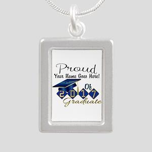 Proud 2017 Graduate Blue Necklaces