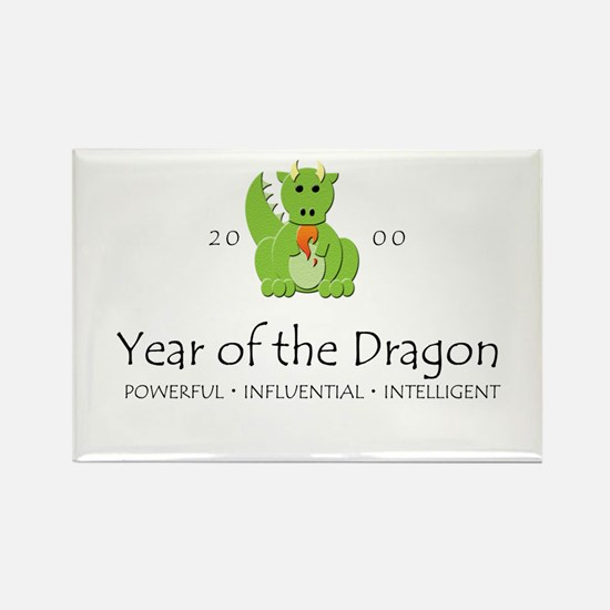 """Year of the Dragon"" [2000] Rectangle Magnet"