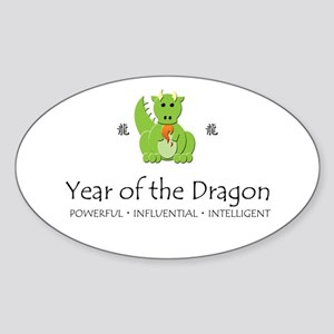 """""""Year of the Dragon"""" Oval Sticker"""