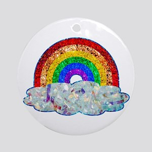 Glitter & Be Gay Round Ornament