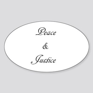 Peace and Justice Sticker