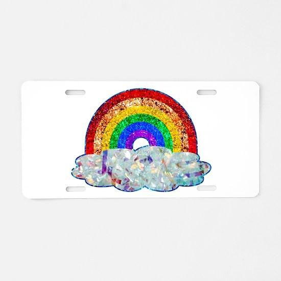 Glitter & Be Gay Aluminum License Plate