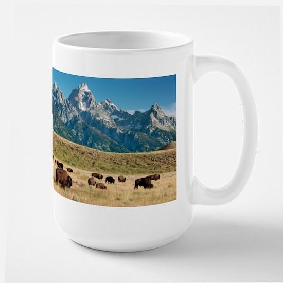 Herd of American Bison - Stainless Steel Travel Mu