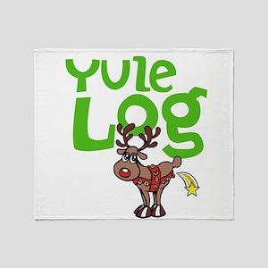 Yule Log Throw Blanket