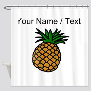 Custom Pineapple Shower Curtain