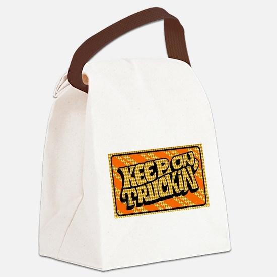 Keep on Truckin' retro design Canvas Lunch Bag
