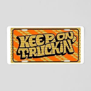 Keep on Truckin' retro design Aluminum License Pla