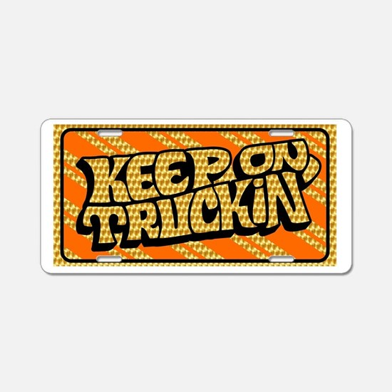 Keep on Truckin' retro design Aluminum License Pla