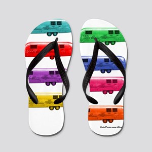 Airstream trailers candy colors Flip Flops