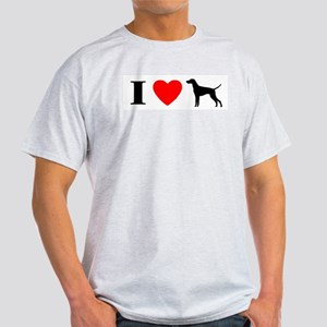 I Heart Vizsla Ash Grey T-Shirt
