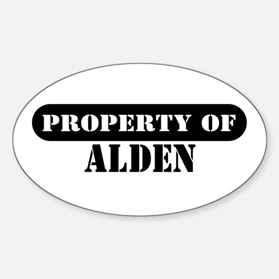 Property of Alden Oval Decal