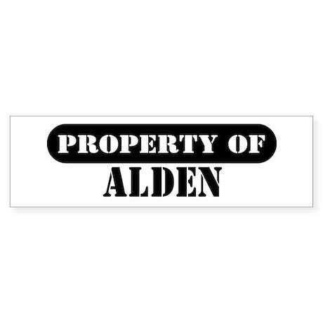 Property of Alden Bumper Sticker
