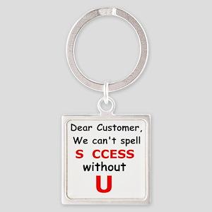 Customer Square Keychain